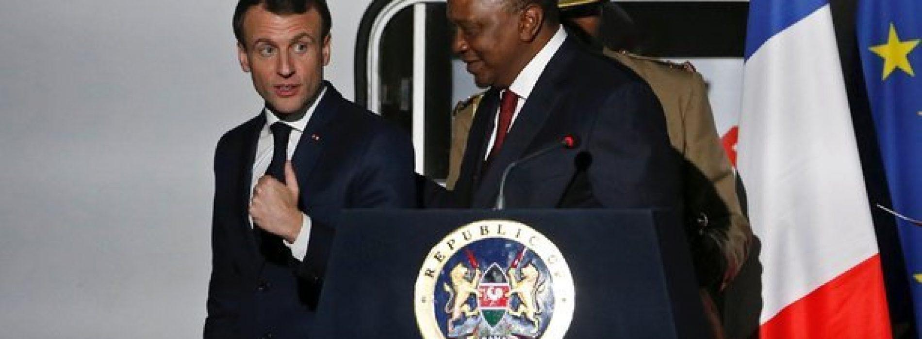 Kenya: Macron riceve il presidente del Kenya per la firma di tre contratti